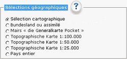 Sélections géographiques: Allemagne