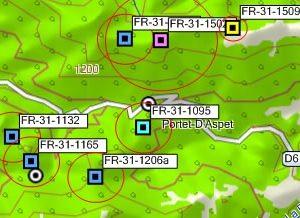 Exemple GPX dans MapSource