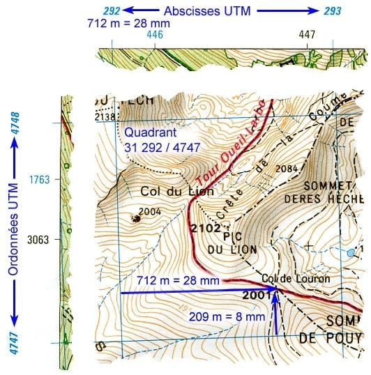 Carte montrant le col de Louron