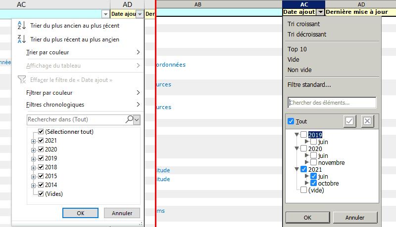 choix d'une valeur-filtre